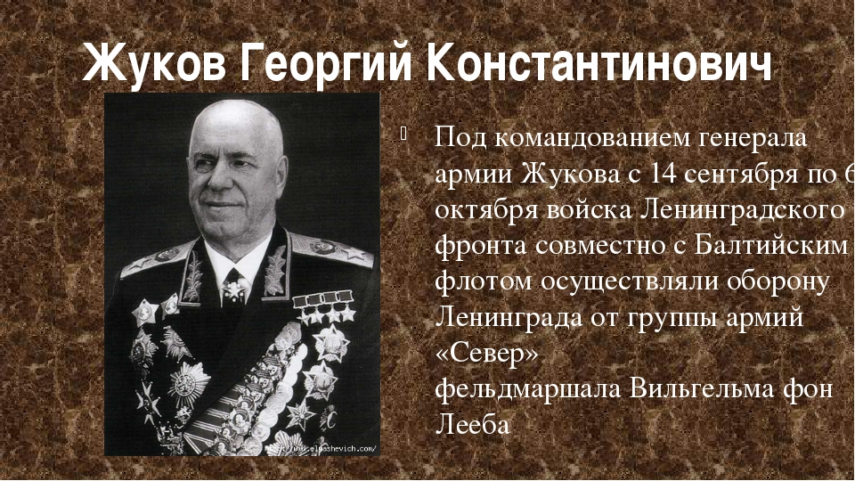 Жуков Георгий Константинович Под командованием генерала армии Жукова с14 сен...