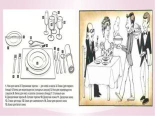 1. Что такое сервировка? Это подготовка и оформление стола для приёма пищи.