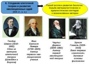 6. Создание клеточной теории и развитие эволюционных идей (ХІХ ст. н. э.) Рез