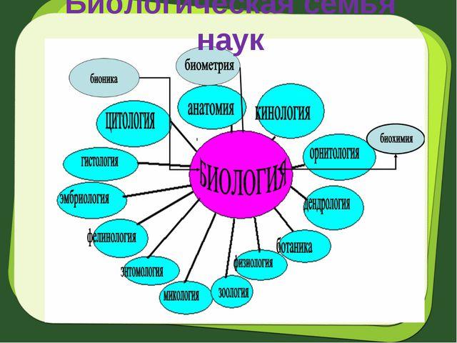Биологическая семья наук