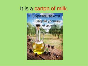 It is a carton of milk.