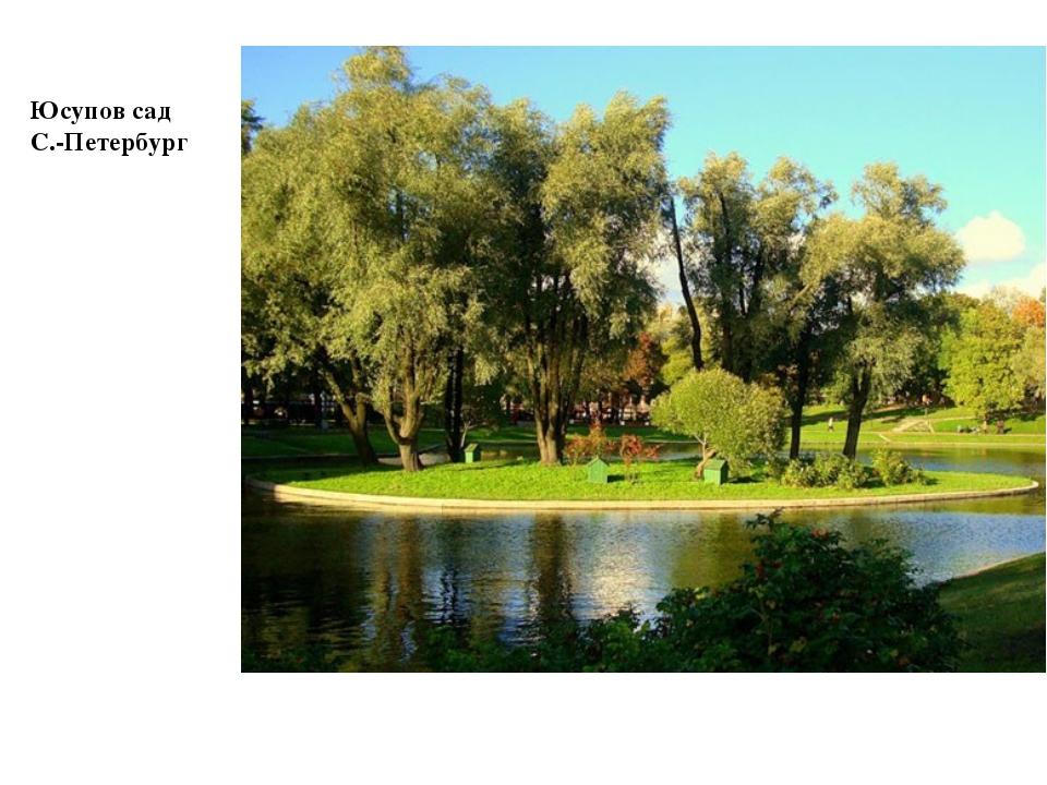 Юсупов сад С.-Петербург