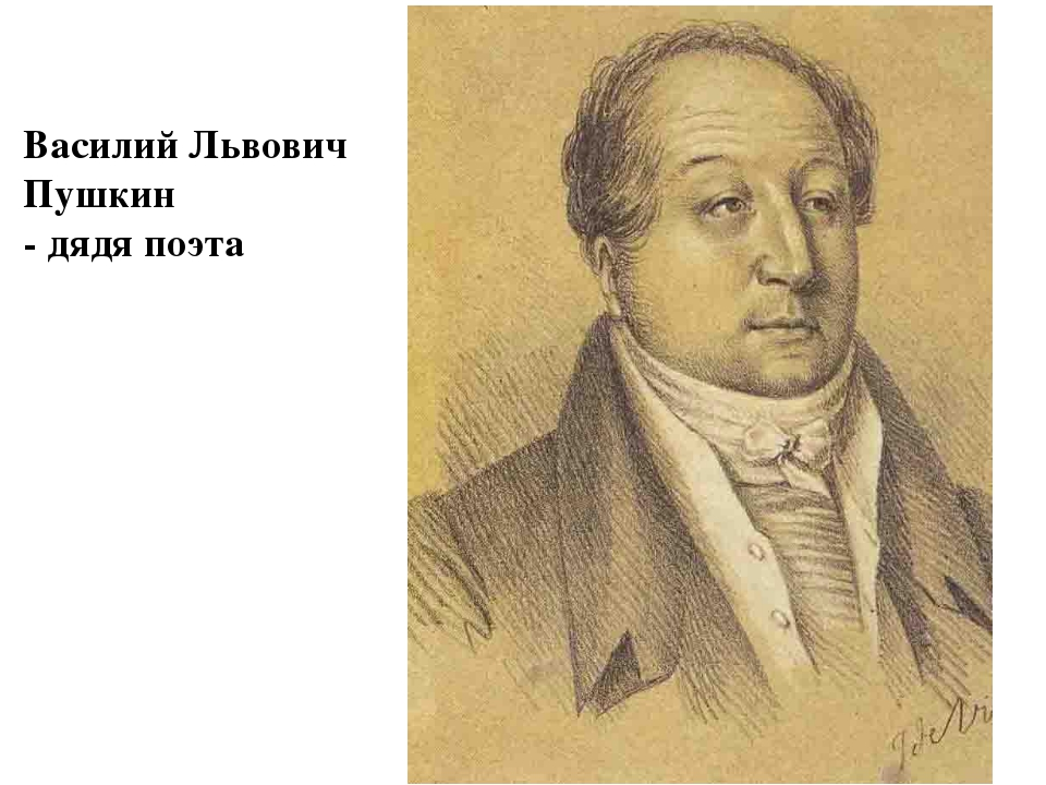 Василий Львович Пушкин - дядя поэта