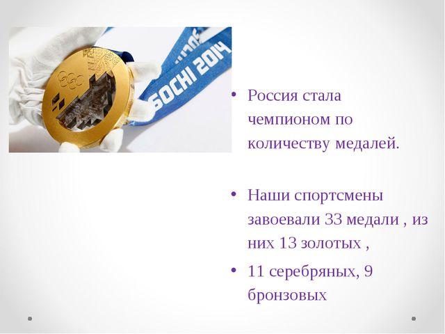 Россия стала чемпионом по количеству медалей. Наши спортсмены завоевали 33 ме...