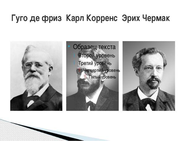 Гуго де фриз Карл Корренс Эрих Чермак