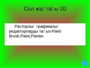 Сол жақтағы 20 Расторлық графикалық редакторларды таңыз-Paint Brush,Paint,P