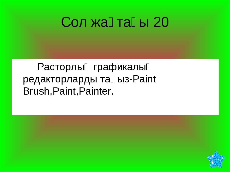 Сол жақтағы 20 Расторлық графикалық редакторларды таңыз-Paint Brush,Paint,P...