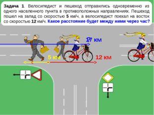 Задача 1. Велосипедист и пешеход отправились одновременно из одного населенно