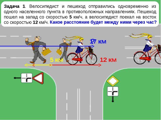 Задача 1. Велосипедист и пешеход отправились одновременно из одного населенно...
