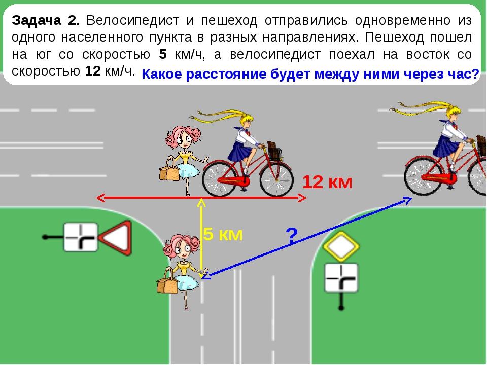 Задача 2. Велосипедист и пешеход отправились одновременно из одного населенно...