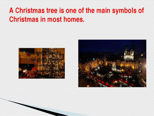 A Christmas tree is one of the main symbols of Christmas in most homes.
