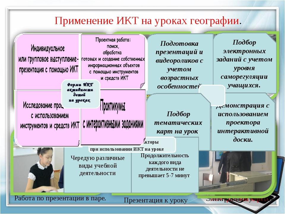 Применение ИКТ на уроках географии. Выявление темы урока Прием «Мобильная Свя...