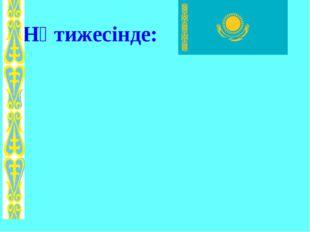 Нәтижесінде: 102030304050206040 ҚАЗАҚСТАН