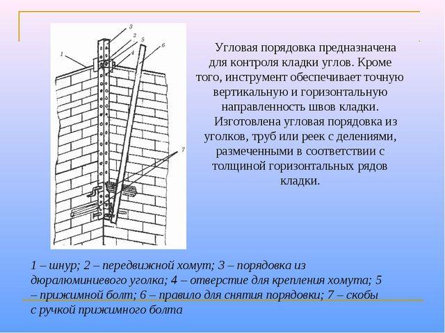 1 – шнур; 2 – передвижной хомут; 3 – порядовка из дюралюминиевого уголка; 4 –...