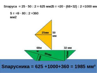 32.1 Площадь треугольника Домашнее задание Выполнить необходимые измерения и