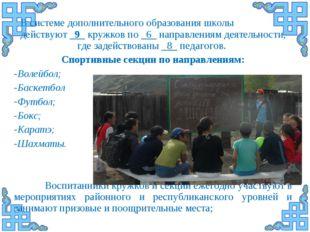 В системе дополнительного образования школы действуют _9_ кружков по _6_ напр