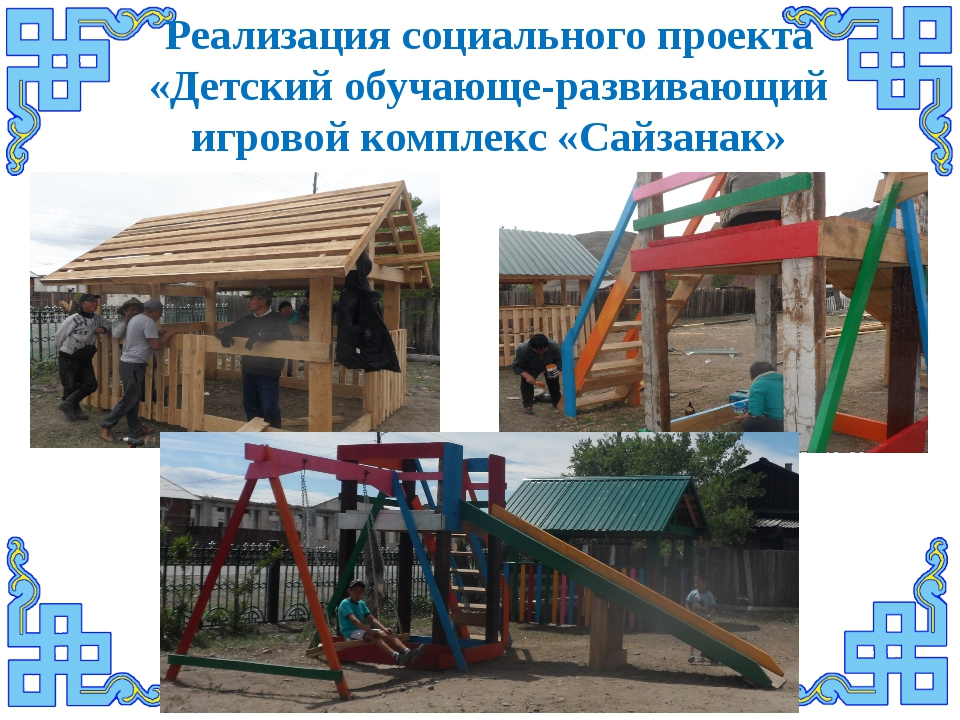Реализация социального проекта «Детский обучающе-развивающий игровой комплекс...