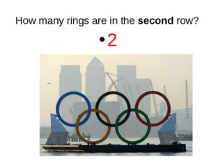 How many rings are in the second row? 2