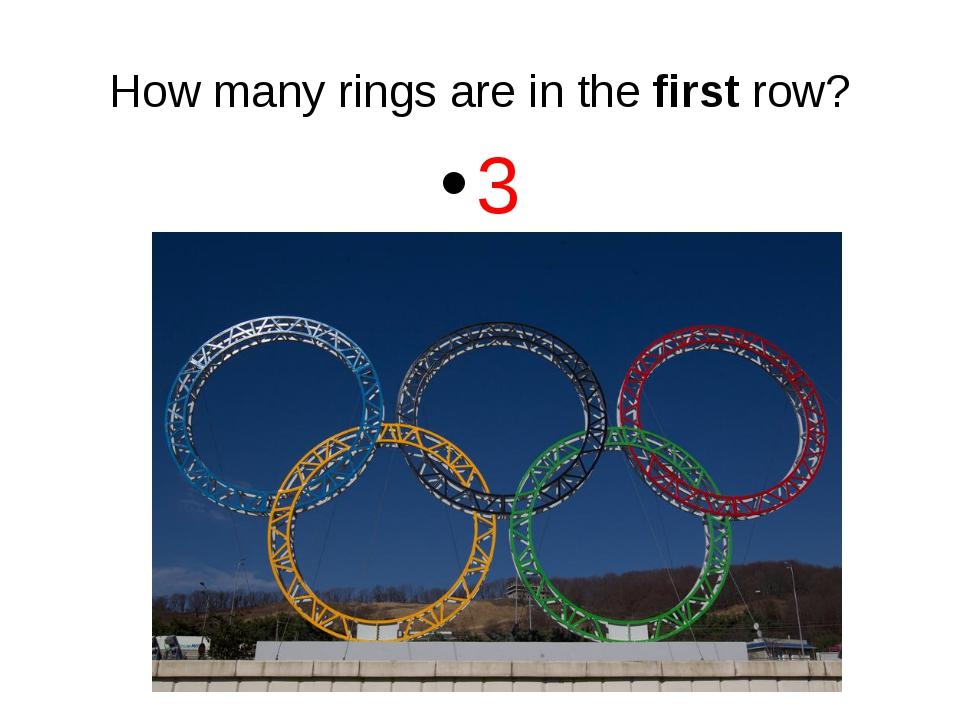 How many rings are in the first row? 3