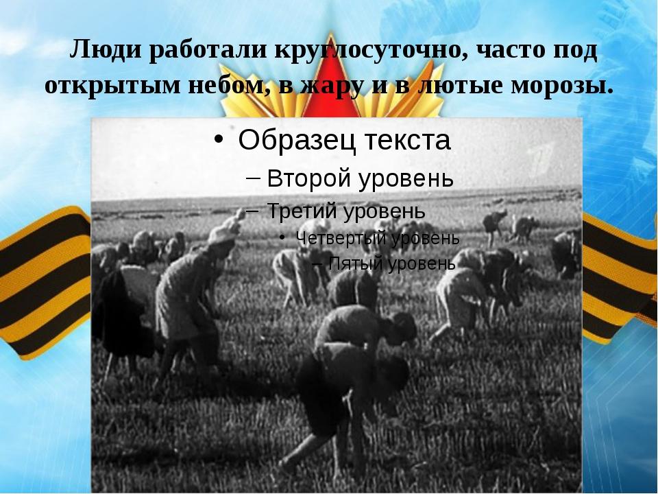 Люди работали круглосуточно, часто под открытым небом, в жару и в лютые моро...