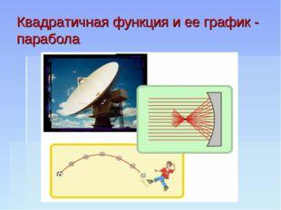 Квадратичная функция и ее график - парабола