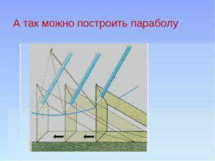 А так можно построить параболу