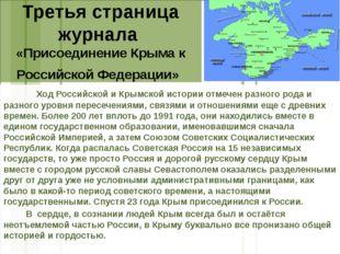 Третья страница журнала «Присоединение Крыма к Российской Федерации» Ход Росс