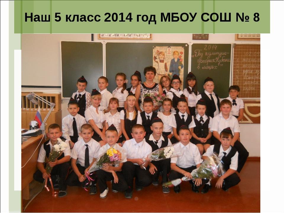 Наш 5 класс 2014 год МБОУ СОШ № 8