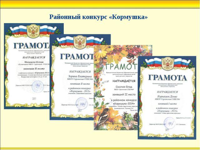 Районный конкурс «Кормушка»