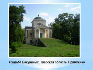 Усадьба Бакуниных, Тверская область, Прямухино