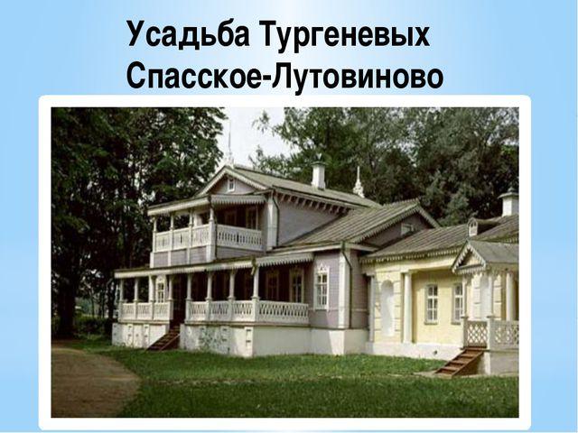 Усадьба Тургеневых Спасское-Лутовиново