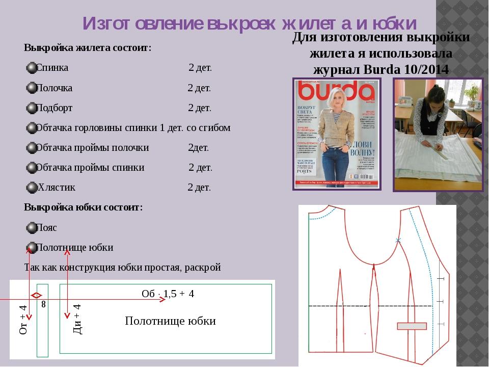 Как сшить жилетку и юбку 469