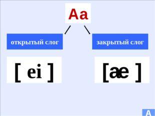 Oo открытый слог закрытый слог [Ω ℮ ] [ α ] A