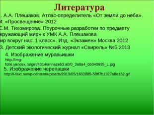 Литература 4. Изображение муравьишки http://img-fotki.yandex.ru/get/4314/anna