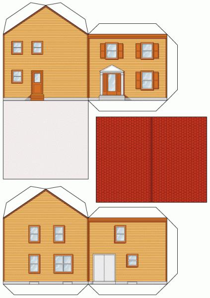 Как сделать дом соседа из бумаги