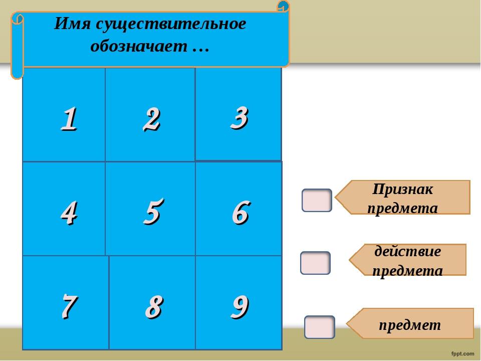В1. Признак предмета действие предмета предмет 1 2 3 4 5 6 Имя существительно...