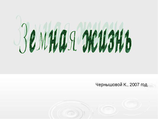 Чернышовой К., 2007 год.