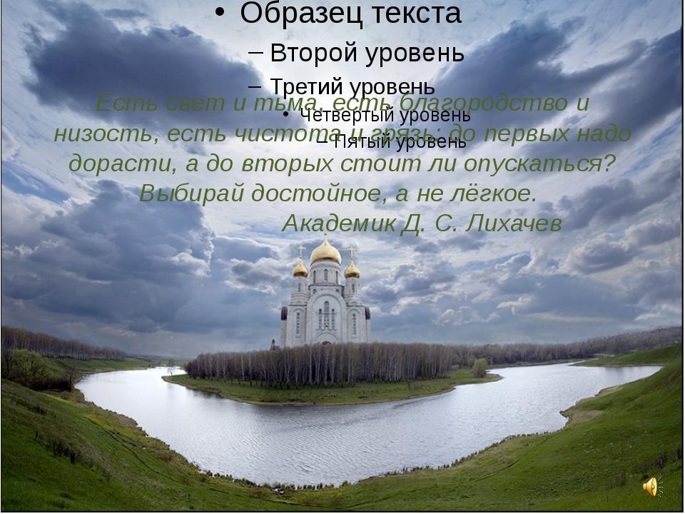 Есть свет и тьма, есть благородство и низость, есть чистота и грязь: до первы...