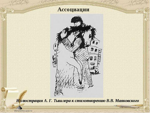 Иллюстрация А. Г. Тышлера к стихотворению В.В. Маяковского Ассоциации