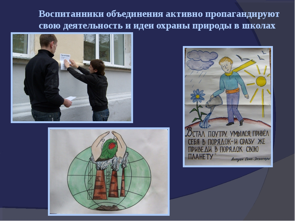 Воспитанники объединения активно пропагандируют свою деятельность и идеи охра...
