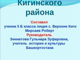 Символика Кигинского района Составил ученик 5 Б класса лицея с. Верхние Киги