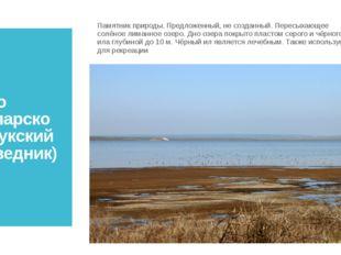 Озеро Узунларское (Опукский заповедник) Памятник природы. Предложенный, не со