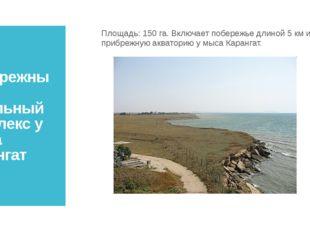 Прибрежный аквальный комплекс у мыса Карангат Площадь: 150 га. Включает побер