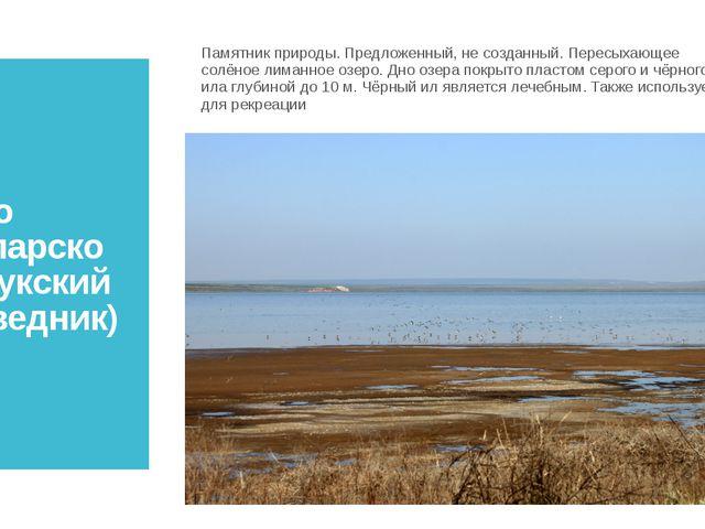 Озеро Узунларское (Опукский заповедник) Памятник природы. Предложенный, не со...