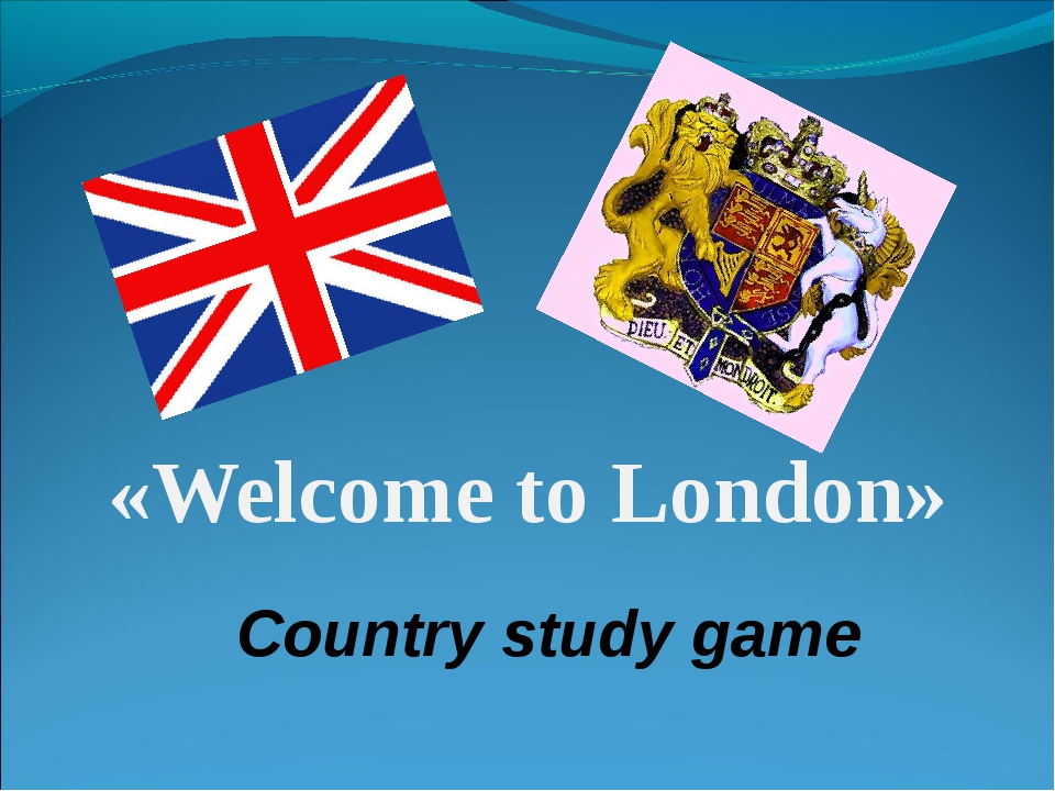 «Welcome to London» Country study game