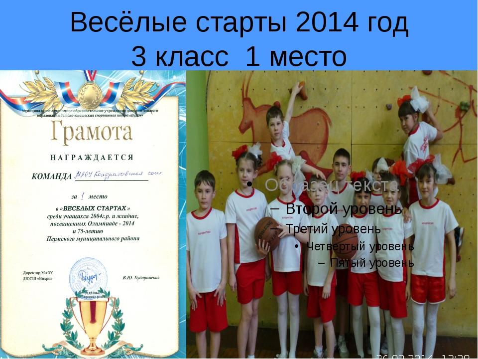 Весёлые старты 2014 год 3 класс 1 место