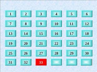 8 9 10 11 12 14 15 16 17 18 20 21 22 23 24 30 29 28 27 26 32 33 1 2 3 4 5 6 1