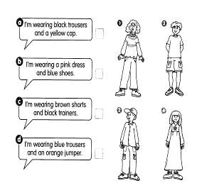 CW3 clothes Read and draw