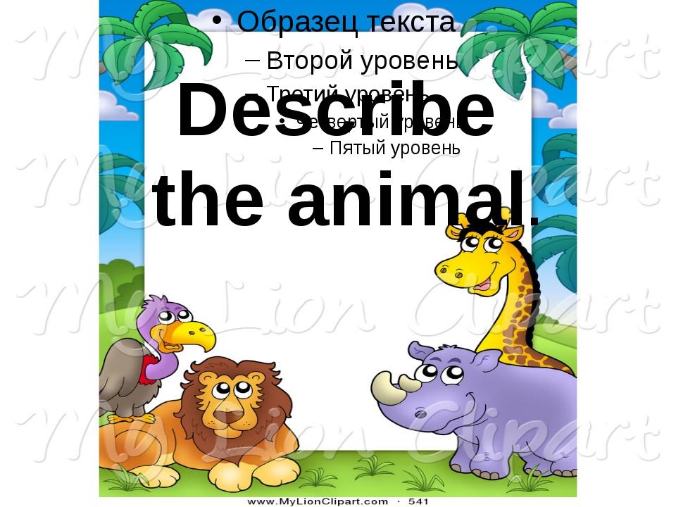Describe the animal.