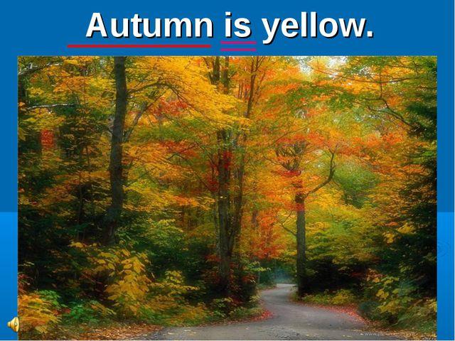 Autumn is yellow.